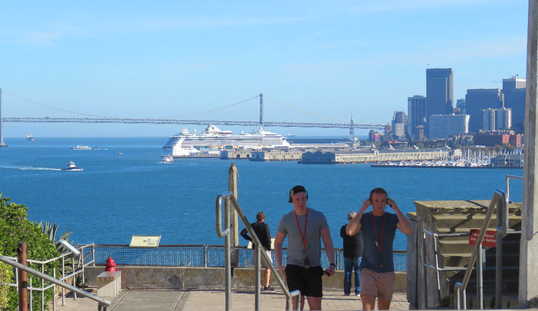 walking  guided tour on Alcatraz Island  and prison Views of Sna Francisco.JPG