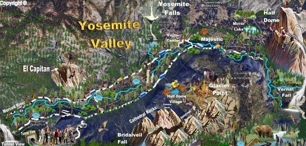 map of YOSITE VALLEY MAP .jpg